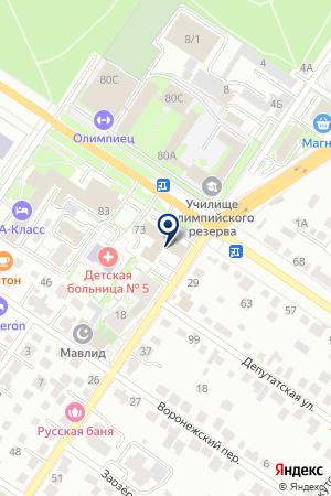 Сауна наШаумяна на карте Екатеринбурга