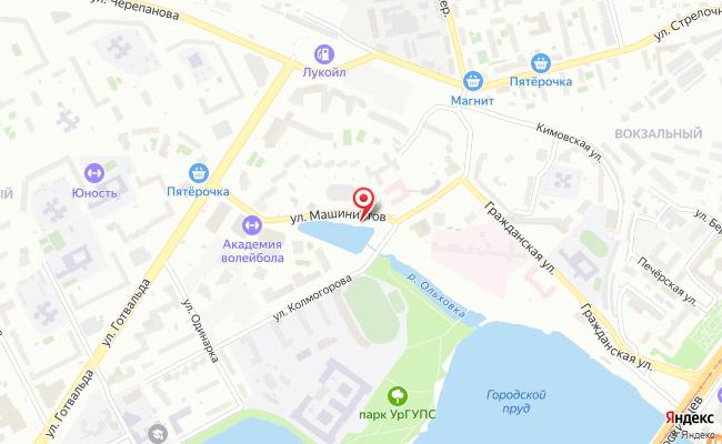 Карта расположения пункта доставки Халва в городе Екатеринбург