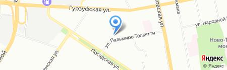 Город на карте Екатеринбурга