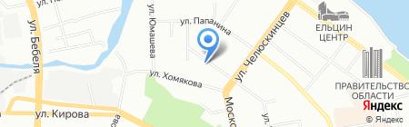 Банкомат Транскапиталбанк на карте Екатеринбурга
