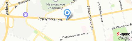 Дока на карте Екатеринбурга
