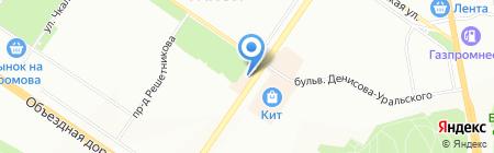 Ария-JEANS на карте Екатеринбурга