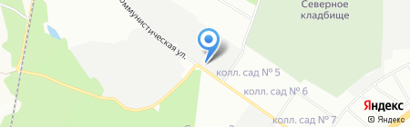 Италмас Урал на карте Екатеринбурга