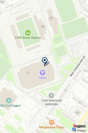 Тренажерный зал наФестивальной улице на карте Екатеринбурга