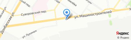Станичное на карте Екатеринбурга