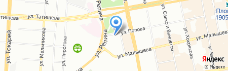 Три пятерки на карте Екатеринбурга