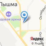 Отдел Военного комиссариата Свердловской области по г. Верхняя Пышма на карте Верхней Пышмы