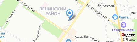 Искатель на карте Екатеринбурга