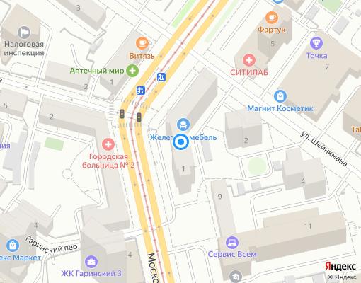 Товарищество собственников жилья «Улица Московская,1» на карте Екатеринбурга