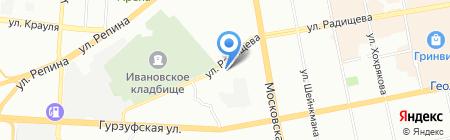Фабрика комфорта на карте Екатеринбурга