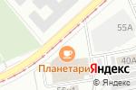 Схема проезда до компании Verno cucine в Екатеринбурге