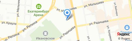 УралСувенир на карте Екатеринбурга