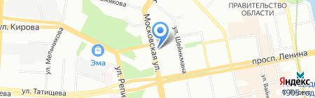 Планета Суши на карте Екатеринбурга