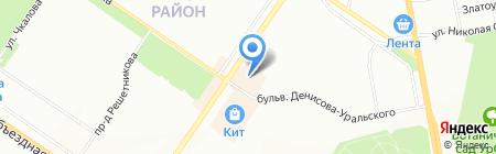 Леопак на карте Екатеринбурга