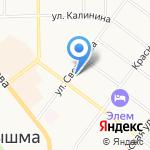 Московская ярмарка на карте Верхней Пышмы
