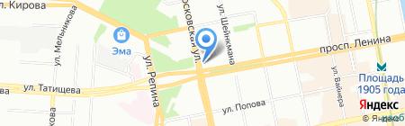 VIVA на карте Екатеринбурга
