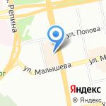 Сиам на карте Екатеринбурга