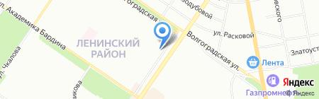 Мелодия сна на карте Екатеринбурга