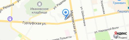 Чермет-Екатеринбург на карте Екатеринбурга