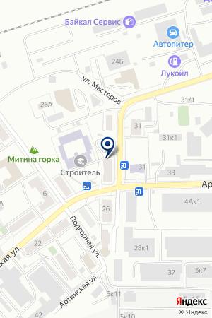 Уралнет на карте Екатеринбурга