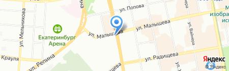 ДС Автомиг на карте Екатеринбурга