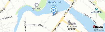 Звезда на карте Екатеринбурга