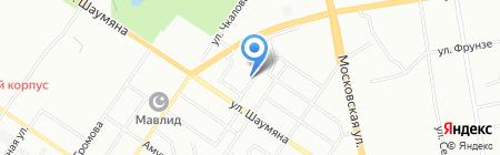 Парус на карте Екатеринбурга