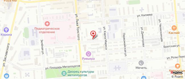 Карта расположения пункта доставки Серов Февральской революции в городе Серов