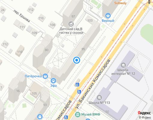 Товарищество собственников жилья «Бакинских Комиссаров, 95» на карте Екатеринбурга