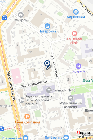 ИНТ на карте Екатеринбурга