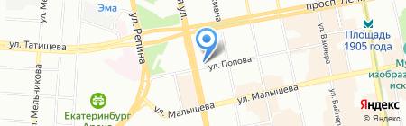 Сантехник на карте Екатеринбурга