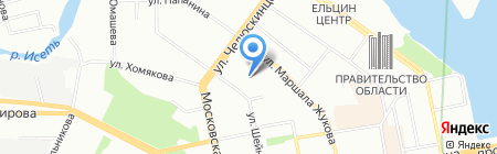 КУБ на карте Екатеринбурга