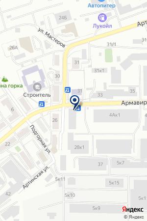 Сауна наАрмавирской 28/1 на карте Екатеринбурга