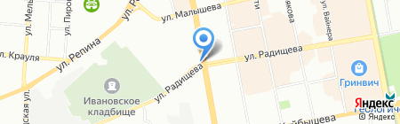 Киоск по продаже печатной продукции на карте Екатеринбурга