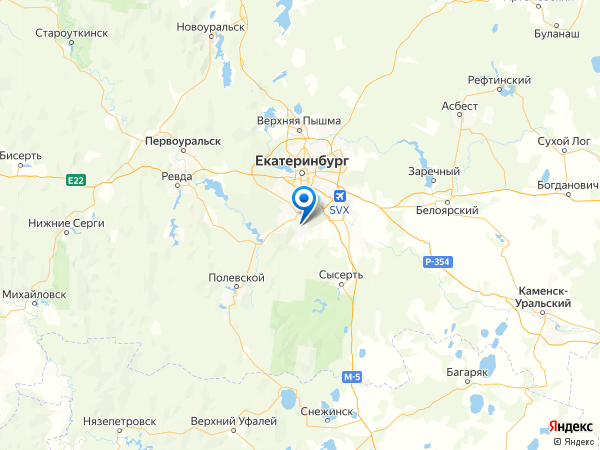 Чкаловский район на карте