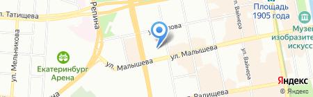 Альянс на карте Екатеринбурга