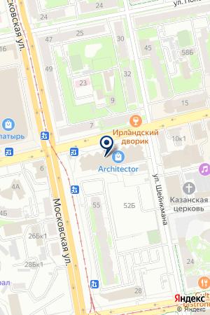 АНТИКВАРНАЯ KRASOTA на карте Екатеринбурга