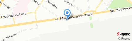 Турпанорама на карте Екатеринбурга
