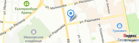 Тыретский солерудник на карте Екатеринбурга