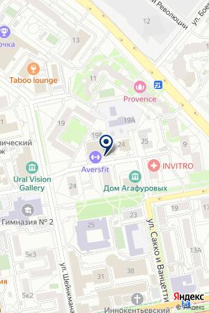 Пешечка на карте Екатеринбурга