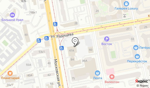Баркас. Схема проезда в Екатеринбурге