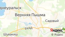 Гостиницы города Верхняя Пышма на карте