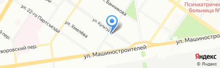 Орджоникидзевский на карте Екатеринбурга
