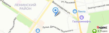 ЭУ №8 Ленинского района на карте Екатеринбурга