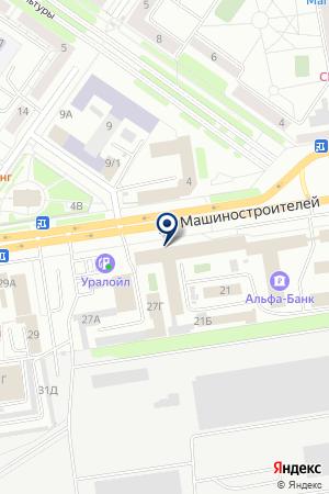 МунтянМ.Г. на карте Екатеринбурга