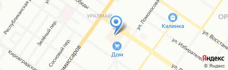 Стиль на карте Екатеринбурга