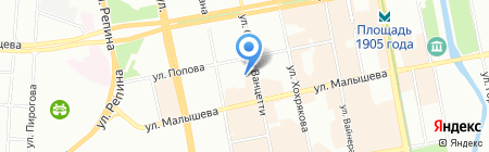 Геополис на карте Екатеринбурга