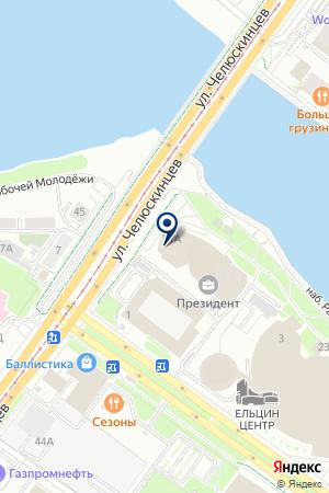 РЭД на карте Екатеринбурга