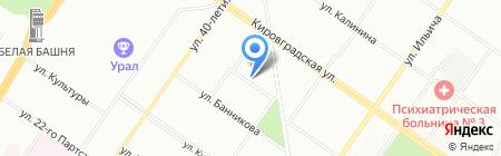 Техноград на карте Екатеринбурга