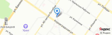 Ева на карте Екатеринбурга